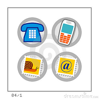 COMMUNICATION: Icon Set 04 - Version 1