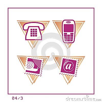 COMMUNICATION: Icon Set 04 - Version 3