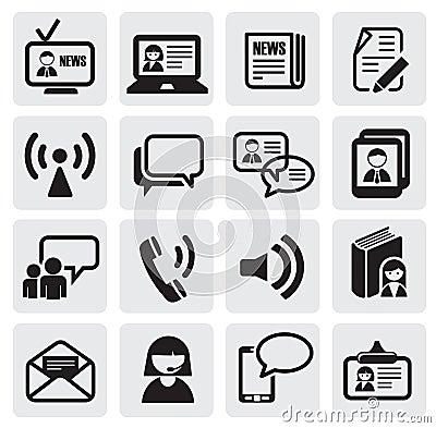 Free Communication Icons Stock Photo - 25547190
