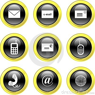 Free Communication Icons Stock Image - 3398591