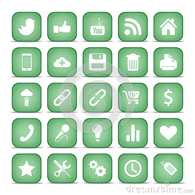 Communication icons. Web set Internet collection.