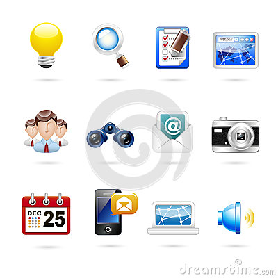 Communication and internet icon set