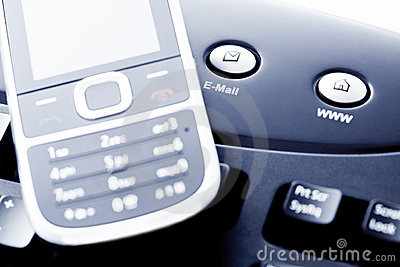 Communication - mobile phone internet and e-mail