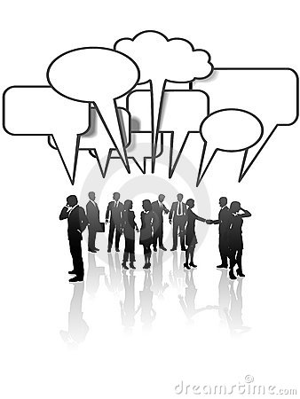 Communication Network Business People Talk