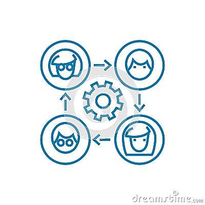 Free Communication On The Internet Linear Icon Concept. Communication On The Internet Line Vector Sign, Symbol, Illustration. Stock Photos - 117054913
