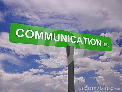 Communication road sign