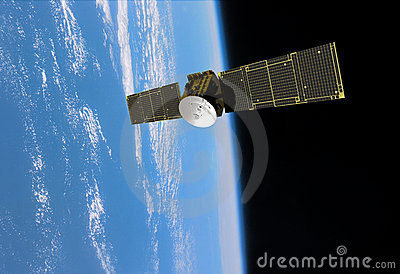 Orbiting Communication Satellite Navigation