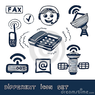 Communication and social network web icons set