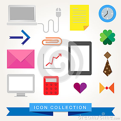 Communication technology devices web icons
