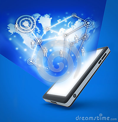 Communication technology with mobile phone