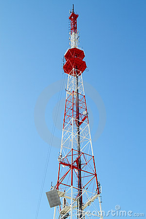 Free Communication Tower (TV Tower) Royalty Free Stock Photography - 18423657