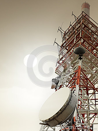 Free Communication Tower With Antennas Stock Photography - 36345522
