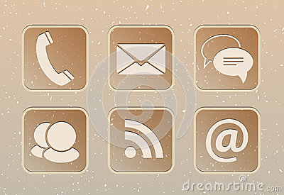 Communication web icons