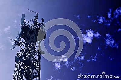 Communications Tower Blue Tone