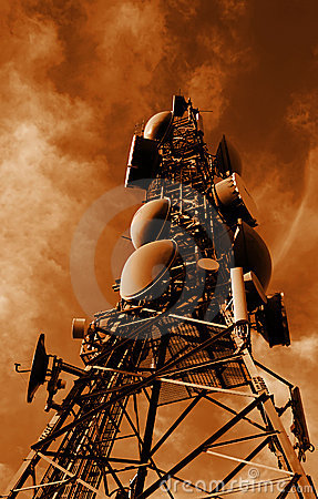 Communications Tower Sepia