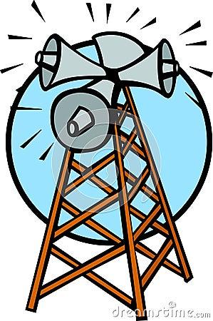 communications tower vector illustration