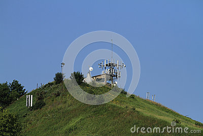 Communications Towers high on a hill