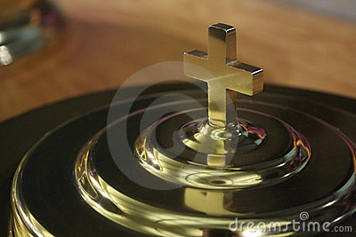 Communion Plate Cross