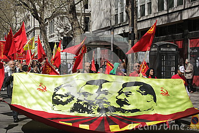 Communist protesters Editorial Image