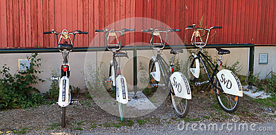 Community bikes in Stockholm Editorial Photo
