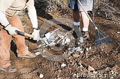 Community park cleanup