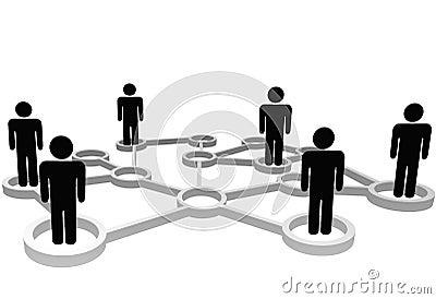 Community people business social media network