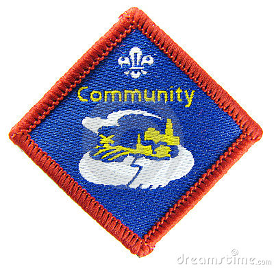 Community - Scout activity badge Editorial Stock Photo