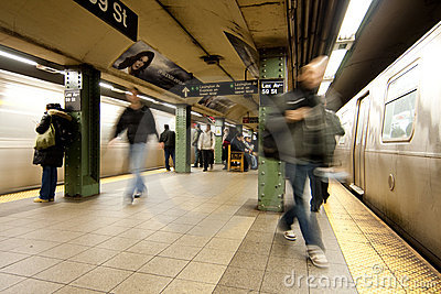 Commuter passengers in subway station Editorial Photo