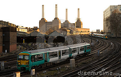 Commuter Train approaching London Victoria