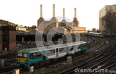 Commuter Train approaching London Victoria
