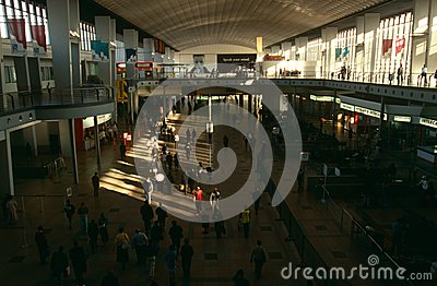 Commuters at a Johannesburg station Editorial Stock Image
