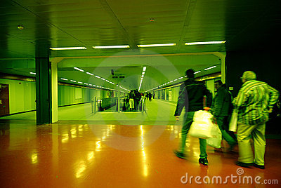 Commuters in Milan Subway II