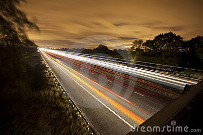 Commuters on the motorway