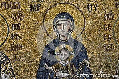 The Comnenus mosaics, Hagia Sophia, Istanbul