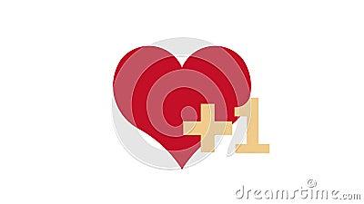 Como notificação cardíaca, animação da rede social ilustração do vetor