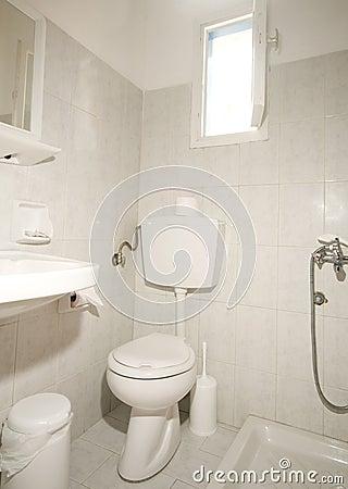 Free Compact Bathroom Ios Island Greece Stock Image - 14625801