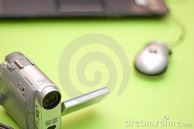Compact Camcorder and computer