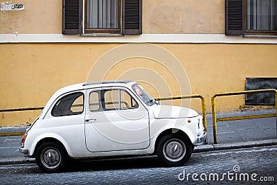 Compact car on Italian street