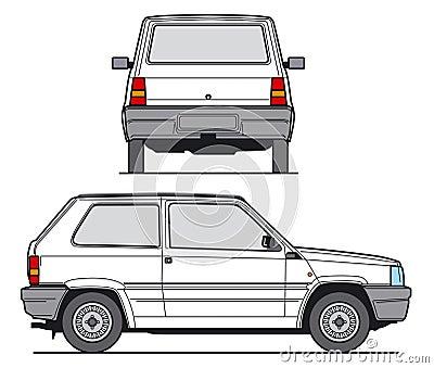 Compact Car Vector