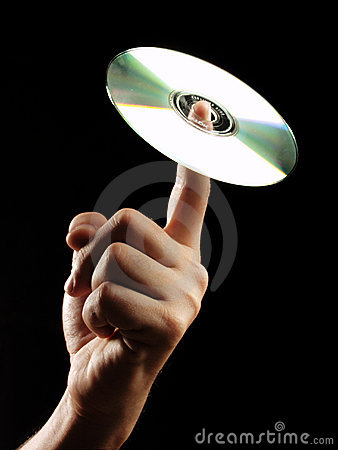 Compact disc hand.