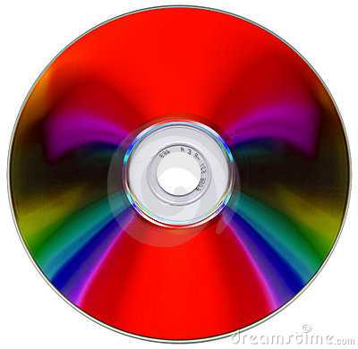 Free Compact Disk On White Royalty Free Stock Photography - 6618487