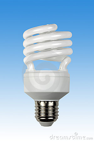 Free Compact Energy Saving Bulb Royalty Free Stock Images - 21783709