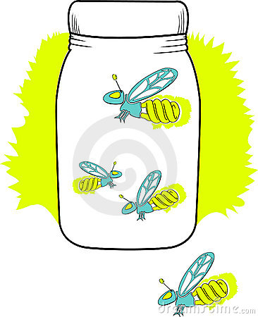 Compact florescent firefly in a jar