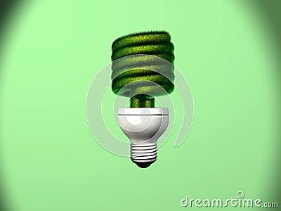 Compact Fluorescent Bulb Grass