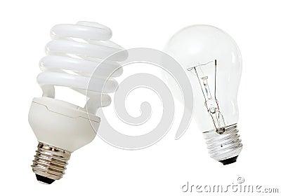 Compact Fluorescent Lamp & Incandescent Bulb