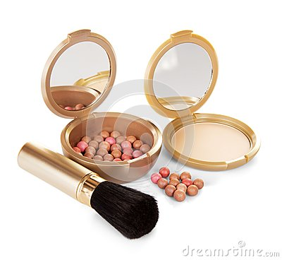 Compact powder and cosmetic blush