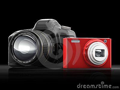 Compact and SLR camera