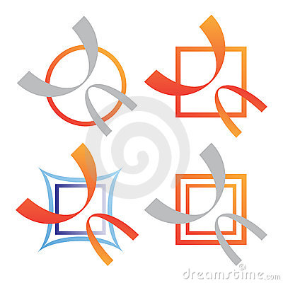 Company business logo set