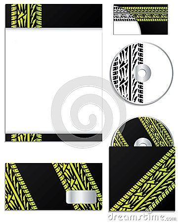 Company  design with tire tracks