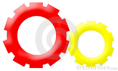 Company Logo - Mechanism Gear-Driven Wheels